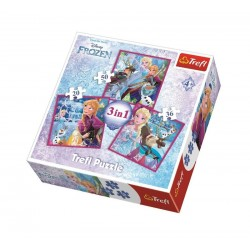 Puzzle 3v1 Ledové království