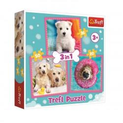 Puzzle 3v1 s pejskama
