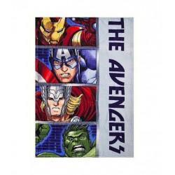Plyšová deka Avengers - šedá