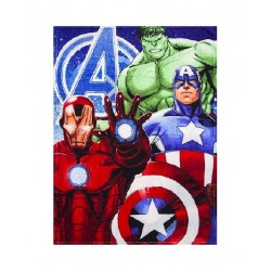 Plyšová deka Avengers - modrá