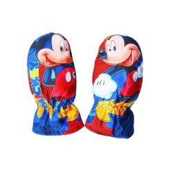 Nepromokavé rukavice Mickey Mouse - červené
