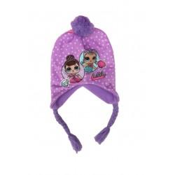 Čepice s copánky L.O.L. - fialová