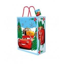 Dárková taška (vánoční) - Auta - 33x 27x 12cm