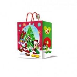 Dárková taška (vánoční) - Mickey & Minnie - 33x 27x 12cm
