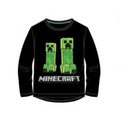 Triko s dl. rukávem Minecraft - černé