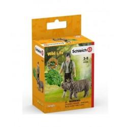 Schleich set - Indický nosorožec v džungli